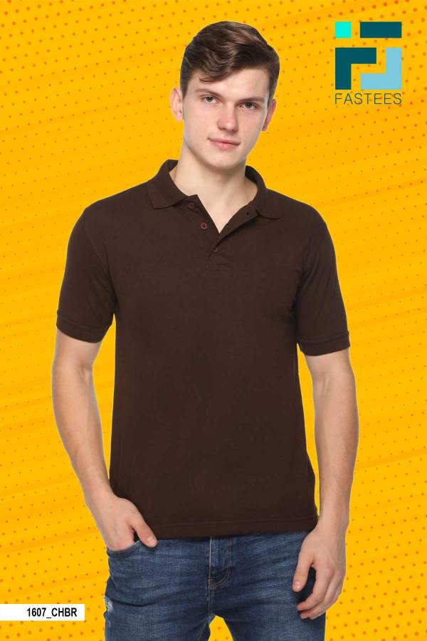 Brown-Cotton-Polo-T-Shirt-For-Corporate-Events-1607_CHBR