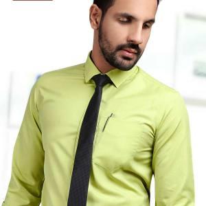 Green-Color-Men's-Formal-Uniform-Shirt-T-445479