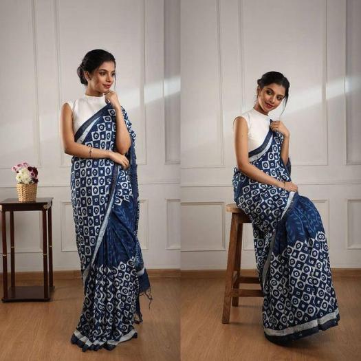 Perfect-Teacher-Uniform-Saree-Draped-By-Manikanandan