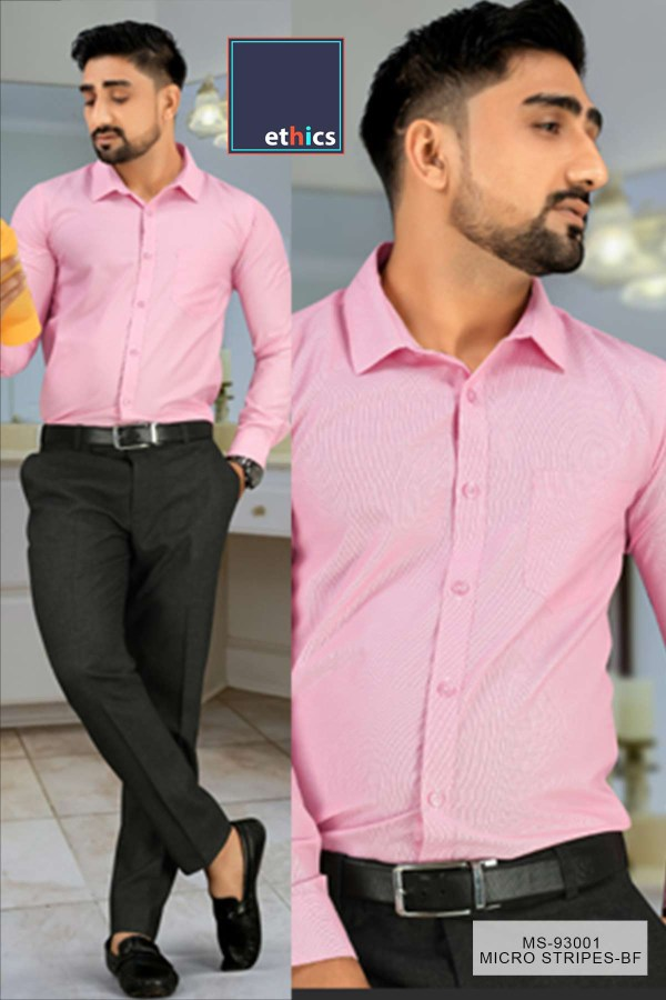 Pink-Micro-Stripes-Mens-Uniform-Shirts-Trousers-Set-for-Corporate-Office-MS-93001-1