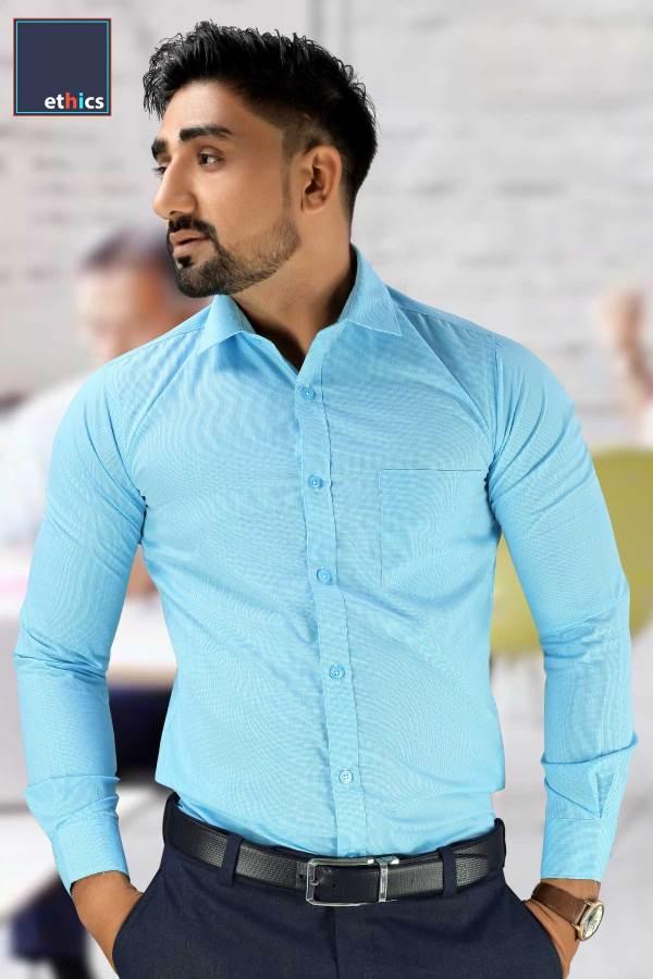Sea-Green-Plain-Corporate-Uniform-Readymade-Shirts-T-445475-N