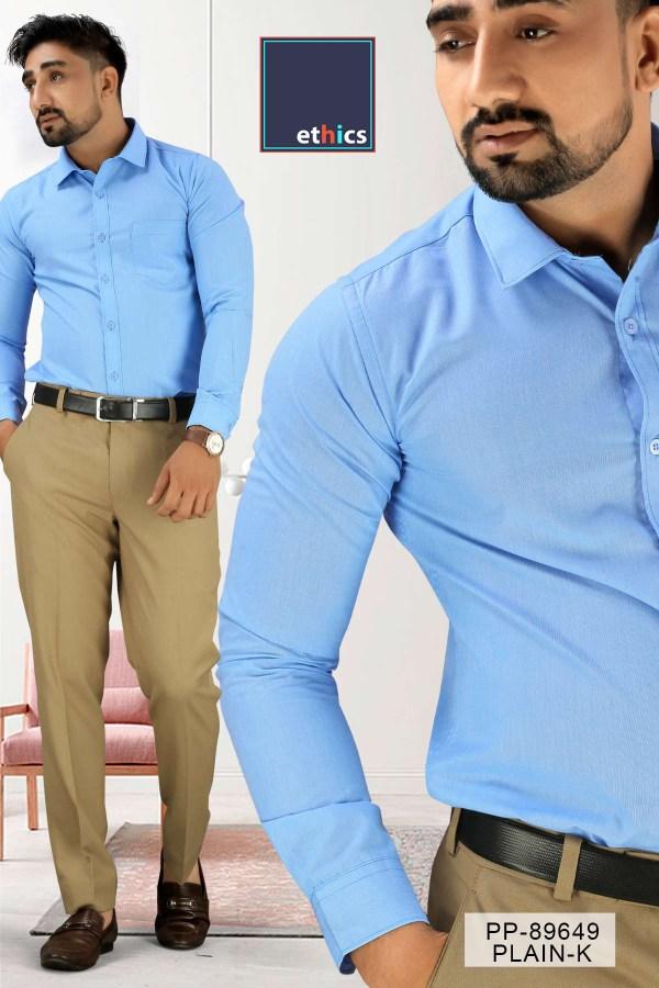 Solid-Blue-Corporate-Uniform-Shirts-Trousers-Set-S-445912-2