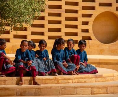 Uniform-Sarees-Sabyasachi-Designs-School-Uniform-For-Rural-Girls-4