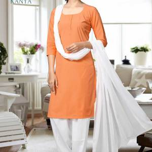 Vermillion-and-White-Kanya-Salwar-Kameez-for-Hindu-Religious-Outfits-Uniforms-1525