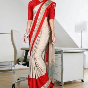 beige-and-red-italian-crepe-uniform-saree-52