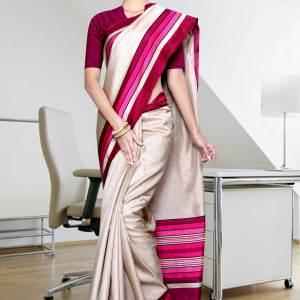 beige-magenta-border-tripura-cotton-uniform-saree-327-17