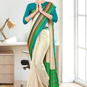 beige-navy-blue-gala-border-premium-polycotton-cotfeel-saree-for-hotel-uniform-sarees-1087-21