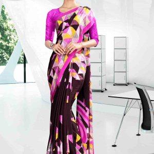 black-and-pink-icrepe-corporate-uniform-saree-833-19