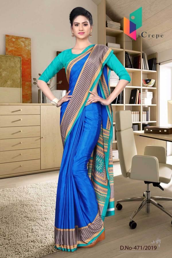 blue-and-green-italian-crepe-silk-school-uniform-saree-471