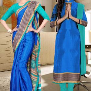 blue-and-green-italian-crepe-silk-school-uniform-saree-salwar-combo-471-647
