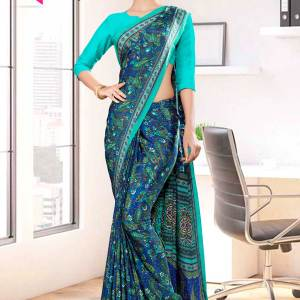 blue-green-premium-paisley-print-italian-crepe-saree-for-teachers-uniform-sarees-1002-21