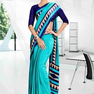 blue-icrepe-silk-corporate-uniform-saree-849