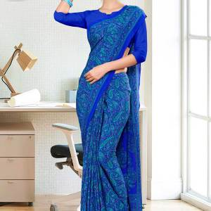 blue-paisley-print-premium-italian-crepe-uniform-sarees-for-employees-1099-21