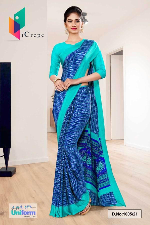 blue-sea-green-premium-italian-silk-crepe-saree-for-institution-uniform-sarees-1005-21
