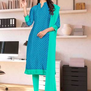 blue-sea-green-small-print-premium-italian-silk-crepe-salwar-kameez-for-jewellery-showroom-uniform-sarees-01025