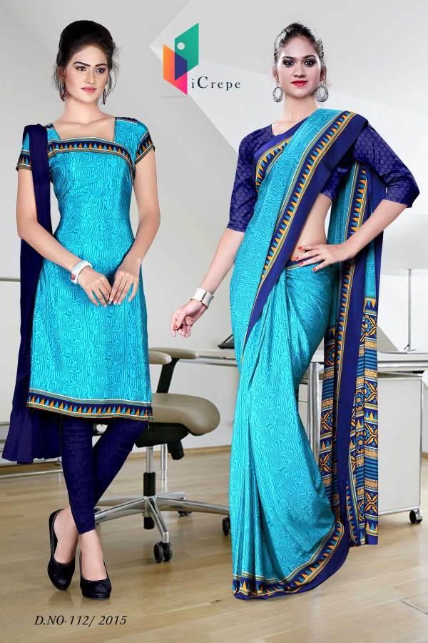 blue-with-dark-blue-border-italian-crepe-uniform-saree-salwar-combo-112