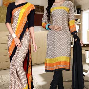 brown-and-black-italian-crepe-silk-college-uniform-saree-salwar-combo-521-667