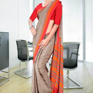 brown-and-orange-italian-crepe-uniform-saree-17-15