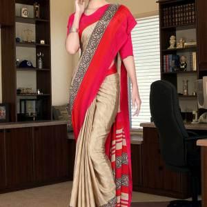 brown-and-pink-italian-crepe-silk-female-staff-uniform-saree-528