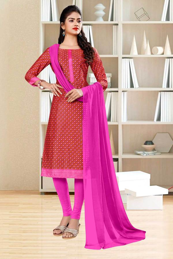 brown-pink-small-print-premium-italian-silk-crepe-salwar-kameez-for-front-office-uniform-sarees-01026