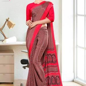 brown-red-small-print-premium-italian-silk-crepe-saree-for-office-uniform-sarees-1021-21