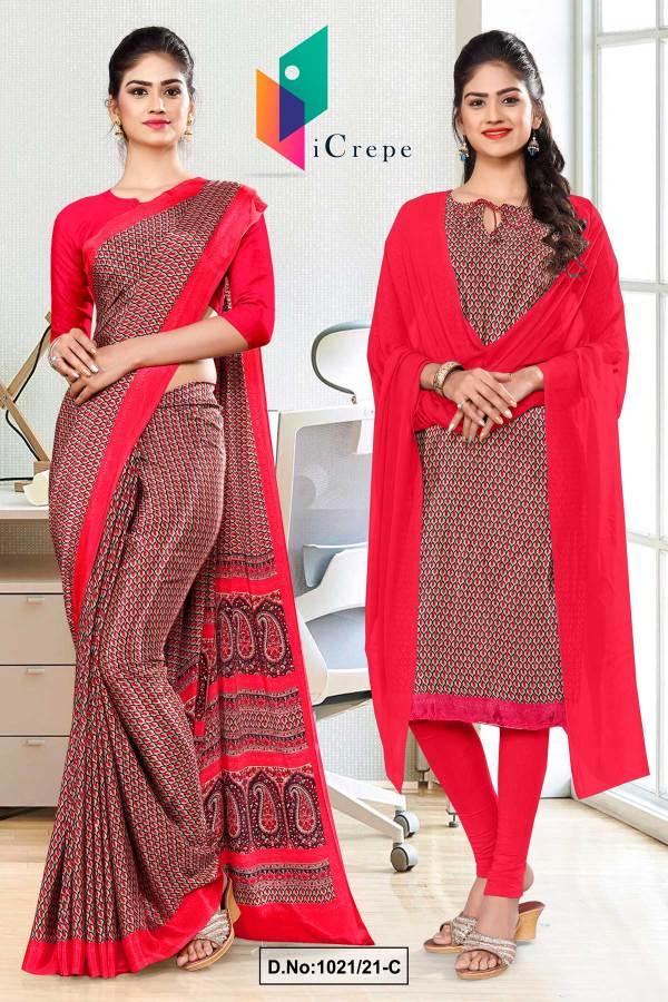 brown-red-small-print-premium-italian-silk-crepe-saree-salwar-kameez-for-office-uniform-sarees-1021-C