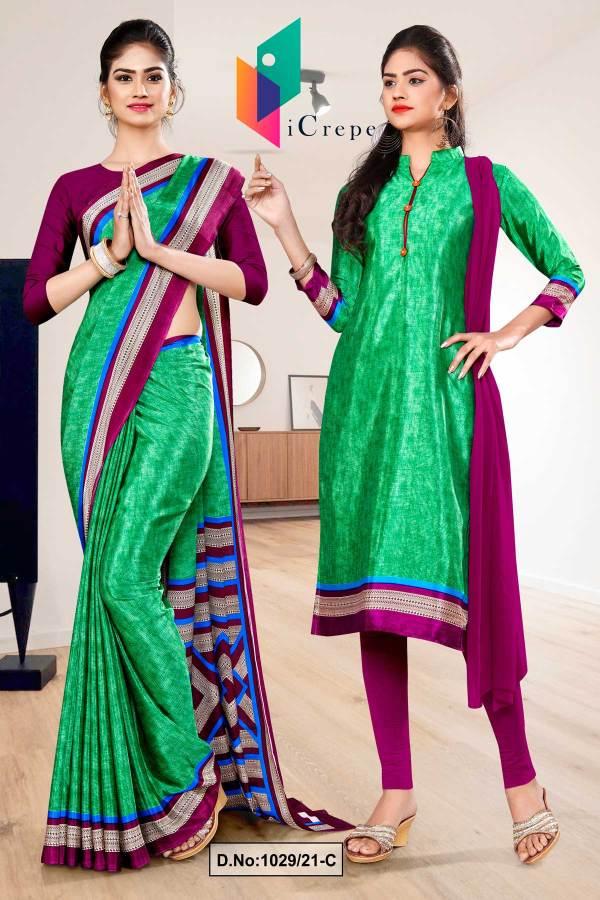 green-wine-premium-italian-silk-crepe-saree-salwar-combo-for-college-uniform-sarees-1029-C