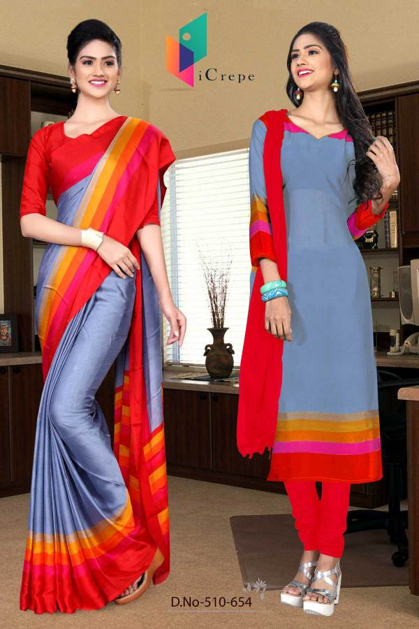 light-blue-and-red-italian-crepe-silk-college-uniform-saree-salwar-combo-510-654