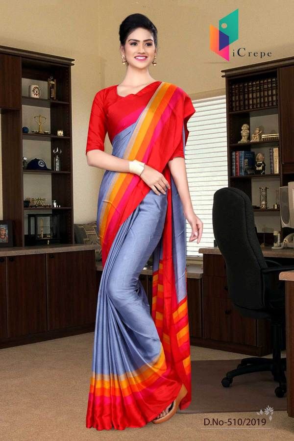 light-blue-and-red-italian-crepe-silk-handloom-uniform-saree-510