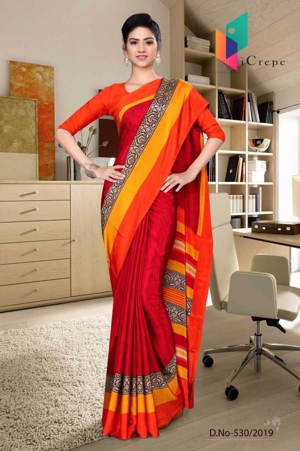 maroon-and-orange-italian-crepe-silk-handloom-uniform-saree-530