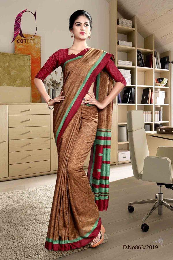 maroon-fancy-corporate-uniform-saree-863-19