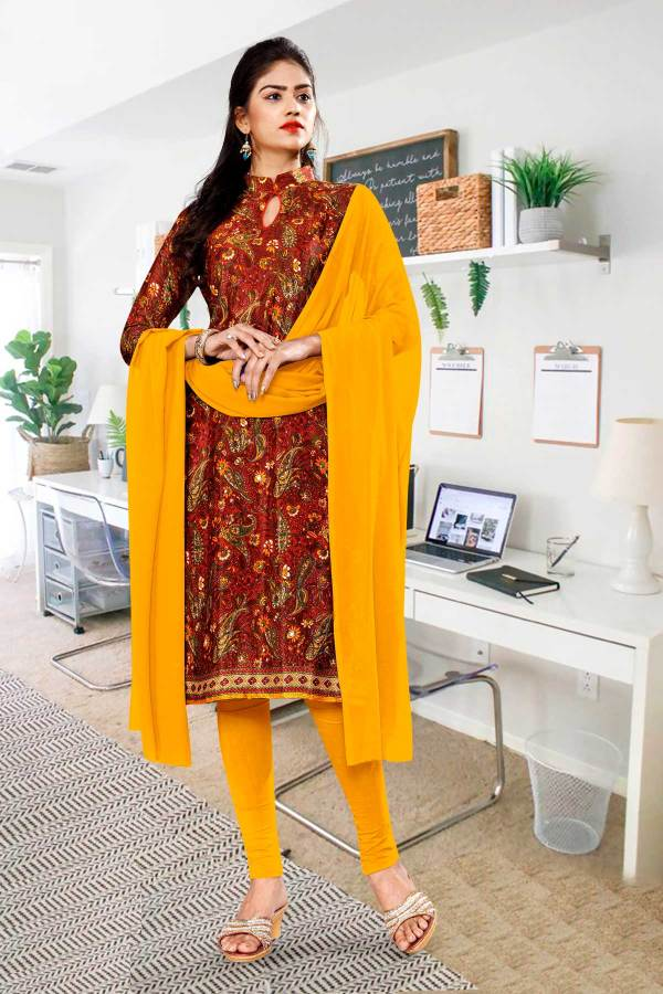 maroon-gold-premium-paisley-print-italian-crepe-salwar-kameez-for-office-uniform-sarees-01003