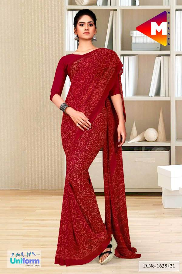 maroon-premium-georgette-bandhej-print-religious-ocassions-sarees-for-rajasthani-bandhani-1638