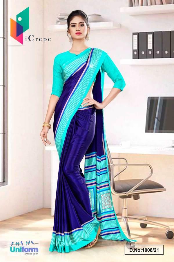 navy-blue-sea-green-premium-italian-silk-crepe-saree-for-front-office-uniform-sarees-1008