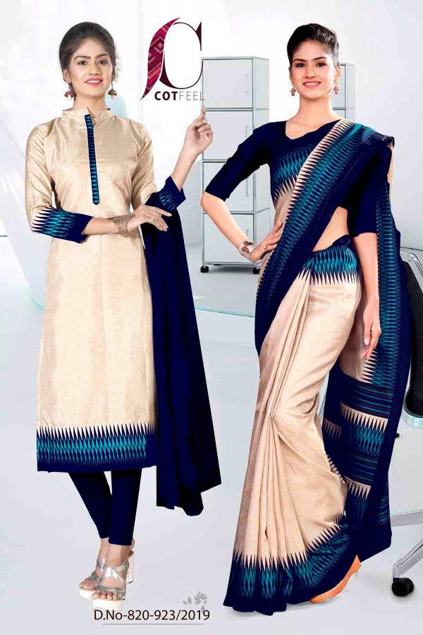 off-white-and-blue-fancy-school-uniform-saree-salwar-combo-820-923