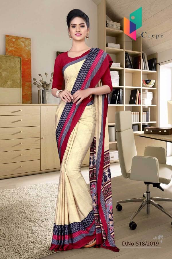 off-white-and-red-italian-crepe-silk-stylish-uniform-saree-518