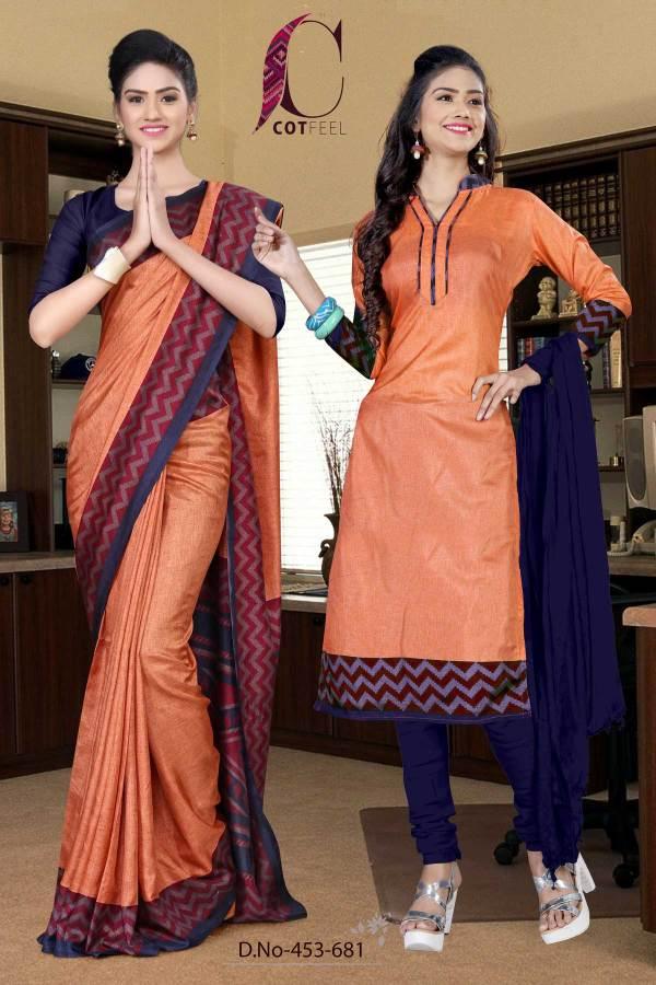 orange-and-navy-blue-tripura-cotton-school-uniform-sarees-combo-453-681