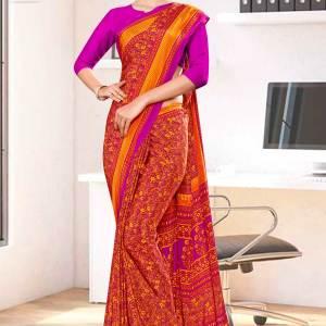 orange-wine-paisley-print-premium-italian-silk-crepe-uniform-sarees-for-teachers-1038-21
