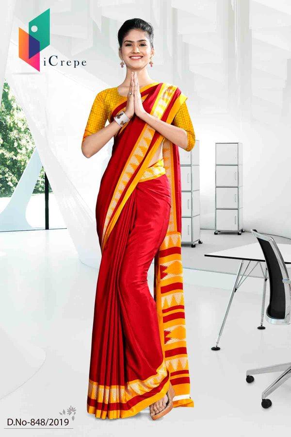 red-and-yellow-school-uniform-saree-848
