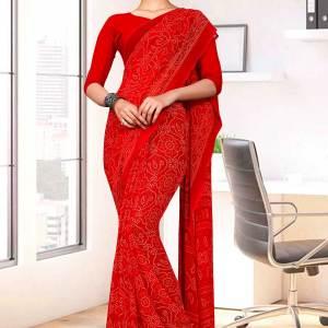 red-premium-georgette-bandhej-print-religious-ocassions-sarees-for-rajasthani-bandhani-1643