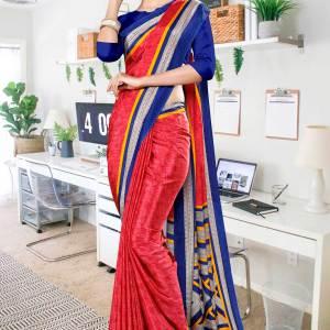 tomato-ink-blue-premium-italian-silk-crepe-saree-for-staff-uniform-sarees-1028-21