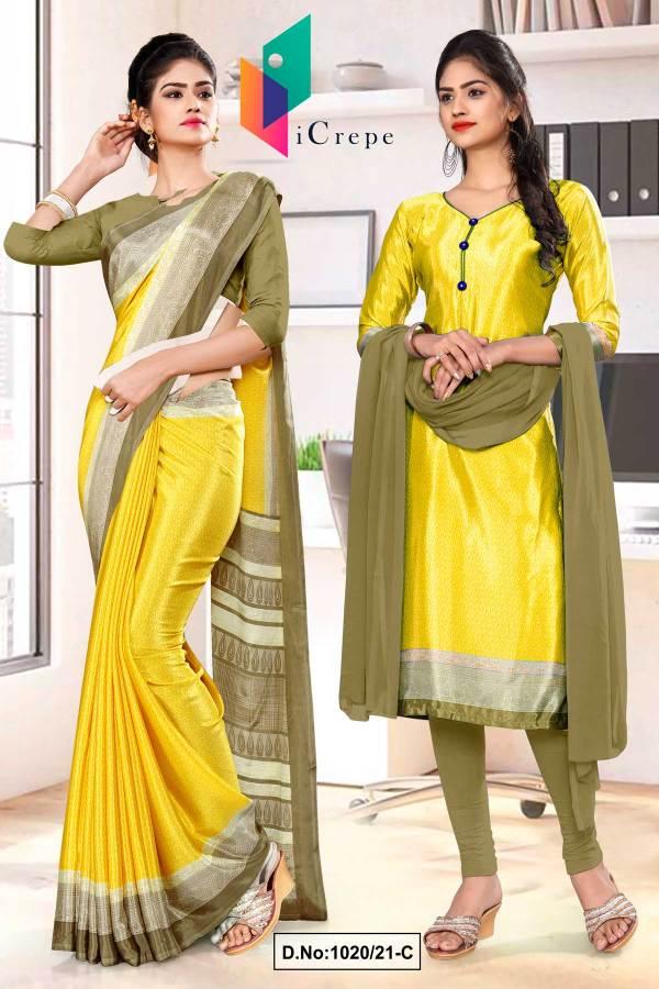 yellow-beige-premium-italian-silk-crepe-saree-salwar-kameez-for-teachers-uniform-sarees-1020-C
