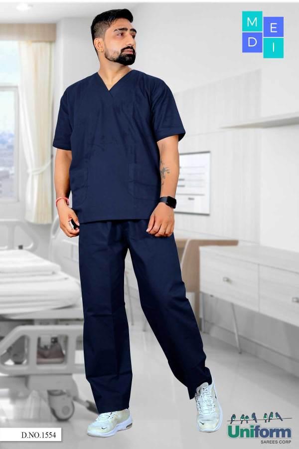 Navy-Blue-Hospital-Scrubs-Male-Nurse-Uniforms-1554