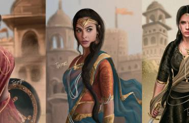 Wonder-Woman-In-Indian-Saree