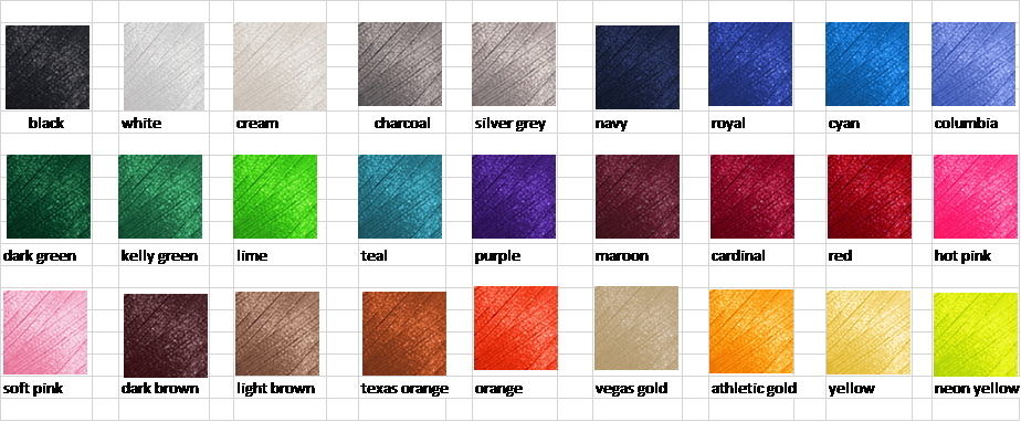 Embroidery Color Options