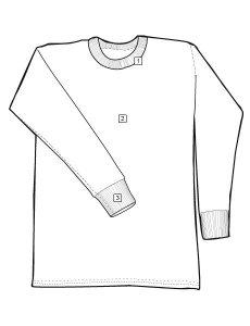 TRU-SPEC XFIRE Long Sleeve T-Shirt Chart 1445