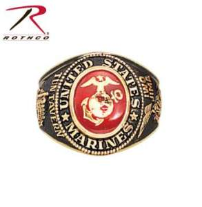 Rothco Deluxe Brass Engraved Ring - 821-A - Marines