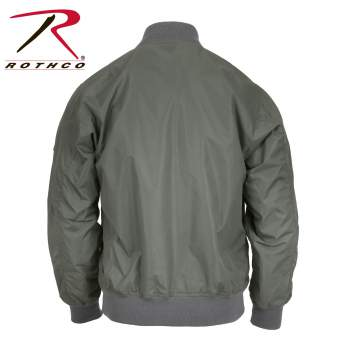 Rothco Lightweight MA-1 Flight Jacket - 6325-D - Green