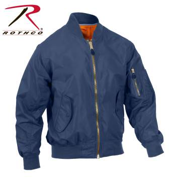 Rothco Lightweight MA-1 Flight Jacket - 6330-B - Navy Blue