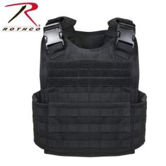 Rothco MOLLE Plate Carrier Vest - 8922-A - Black